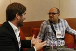 Networking  at the September 10-11, 2012 Mobile and Online Dating Industry Conference in Cologne