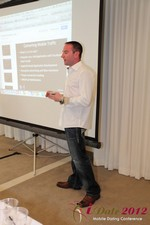 Ryan Gray (Co-Founder of IMGrind) at the Mobile Marketing Pre-Conference at iDate2012 Beverly Hills