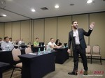 Marco Tulio Kehdi COO of Raccoon Marketing Digital speaking on Brazil Search  at the iDate South American Executive Convention and Trade Show