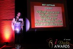Maria Avgitidis announcing the Best Dating Software and SAAS at the 2013 Internet Dating Industry Awards in Las Vegas