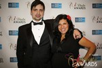 Arthur Malov & Damona Hoffman  at the January 15, 2014 Internet Dating Industry Awards Ceremony in Las Vegas