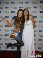 Svetlana Mucha and Elena Kolyasnikova at the 2015 Las Vegas iDate Awards